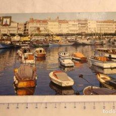Cartoline: POSTAL CORUÑA DARSENA 48 ESCUDO DE ORO ESCUDO DE ORO DOMINGUEZ CIRCULADA. Lote 146567918