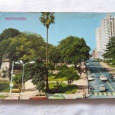 Postales: POSTAL PLAZA DE ESPAÑA. PONTEVEDRA. HÉROES DE PONTESAMPAIO. EDICIONES PARÍS. AÑOS 70, 80. SEAT 600. Lote 147172634