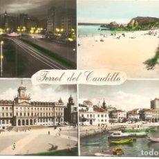 Postales: POSTAL, EL FERROL DEL CAUDILLO, VARIAS VISTAS, ED. PARIS, CIRCULADA. Lote 147488434