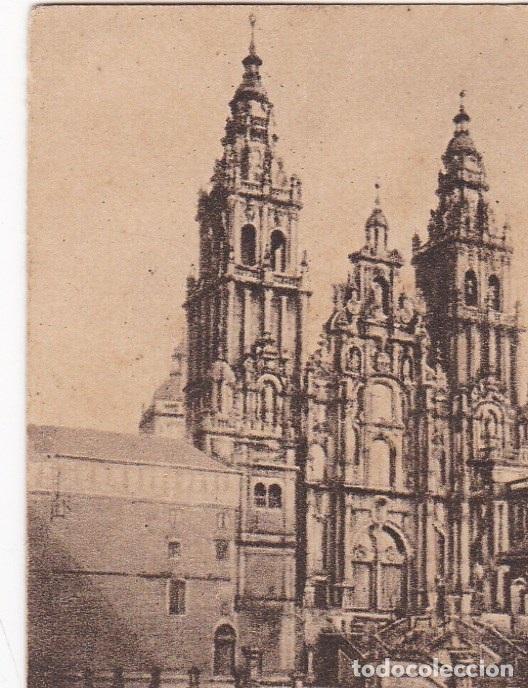 POSTAL ORIGINAL. DÉCADA 30. CORUÑA. SANTIAGO DE COMPOSTELA. FACHADA DEL OBRADOIRO. Nº 148 (Postales - España - Galicia Antigua (hasta 1939))