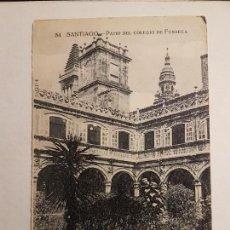 Postales: SANTIAGO, PATIO DEL COLEGIO DE FONSECA. Lote 147784786