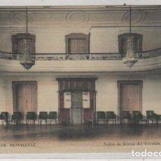 Postales: AGUAS DE MONDARIZ. SALÓN DE FIESTAS DEL ESTABLECIMIENTO. MADRID POSTAL. SIN CIRCULAR.. Lote 147824534