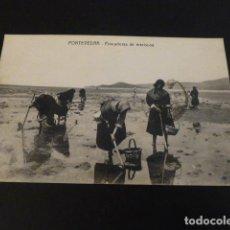 Postales: PONTEVEDRA PESCADORAS DE MARISCOS. Lote 147938570