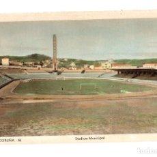 Postales: TARJETA POSTAL LA CORUÑA. STADIUM MUNICIPAL. Nº 86. EDIC. ARRIBAS. CIRCA 1950. Lote 148014290