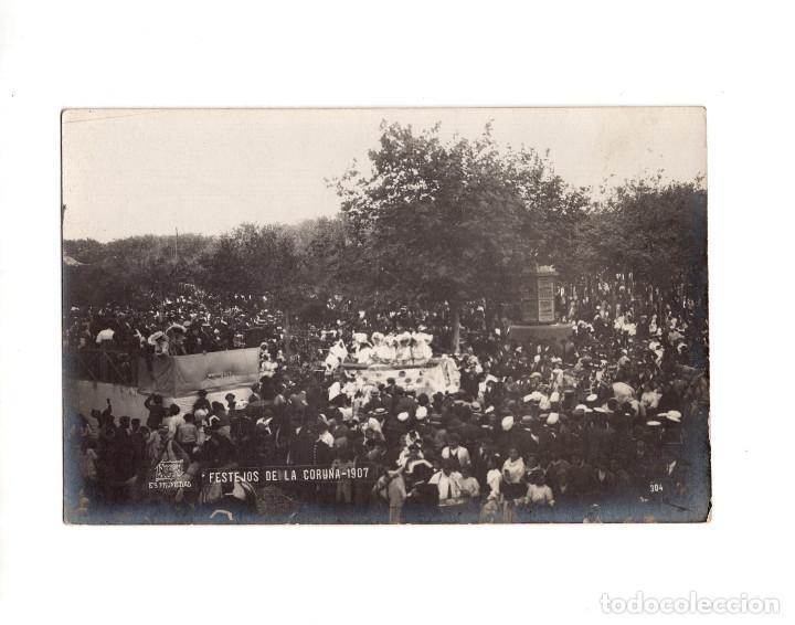 CORUÑA.- FESTEJOS DE LA CORUÑA 1907. POSTAL FOTOGRÁFICA. FOTO FERRER (Postales - España - Galicia Antigua (hasta 1939))