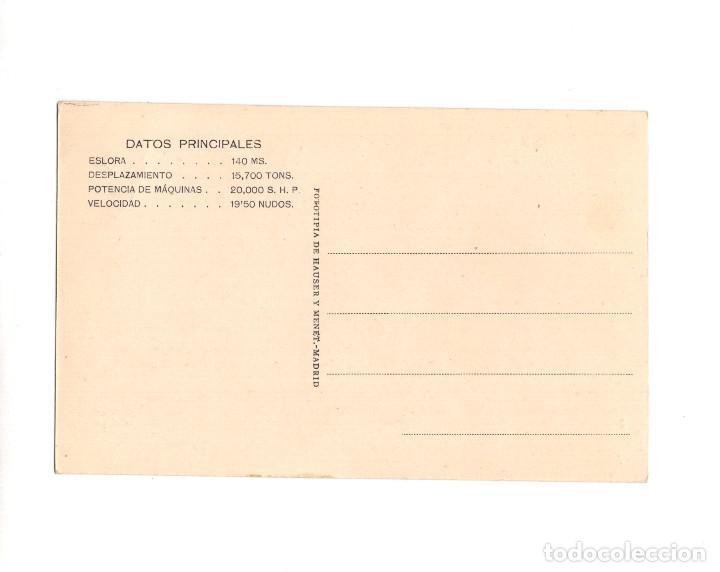 Postales: EL FERROL.(LA CORUÑA).- SOCIEDAD ESPAÑOLA DE CONSTRUCCION NAVAL. ACORAZADOS TIPO ALFONSO XIII - Foto 2 - 148467334