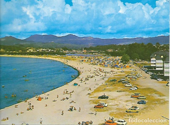RAMALLOSA (PONTEVEDRA) PLAYA (AÑOS 70) (Postales - España - Galicia Moderna (desde 1940))