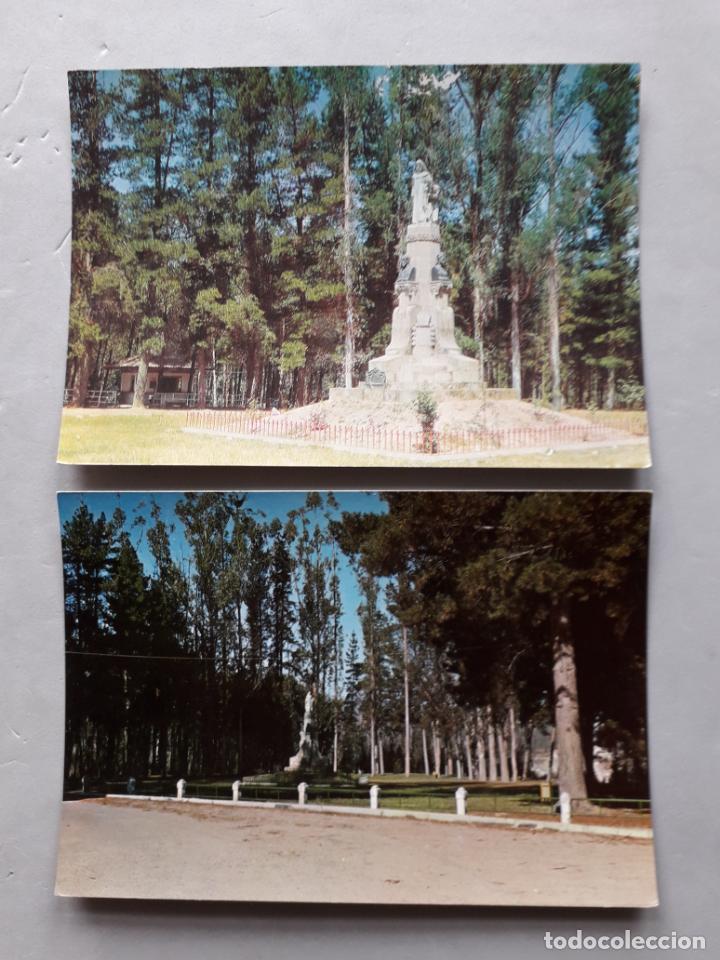LOTE DE 2 POSTALES DE CARBALLINO. ORENSE. PARQUE HERMANOS PRIETO. (Postales - España - Galicia Moderna (desde 1940))