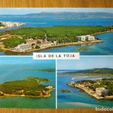 Postales: POSTAL GALICIA LOUJO ISLA LA TOJA PONTEVEDRA POSTALES FAMA VISTA AÉREA. Lote 150851026