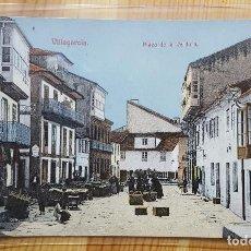 Postales: VILLAGARCIA PLAZA DE LA VERDURA UNION POSTAL UNVIVERSAL. Lote 151668778