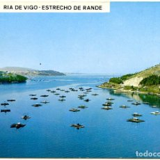 Postales: 3164 - RÍA DE VIGO. ESTRECHO DE BANDE. VISTA AÉREA. EN PRIMER TÉRMINO MEJILLONERAS. POSTALES FAMA. Lote 151831514