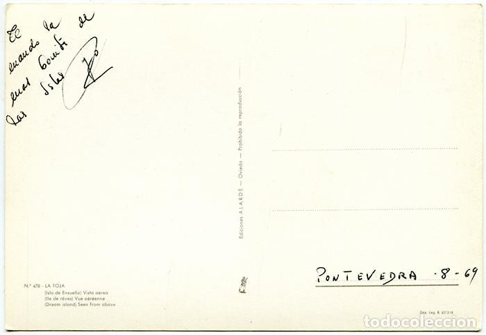 Postales: Nº 478 - La Toja (Isla de Ensueño) Vista aérea. Ediciones Alarde. Escrita - Foto 2 - 151832218