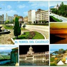 Postales: 2040 EL FERROL DEL CAUDILLO. EDICIONES ARRIBAS. CIRCULADA EN 1972. Lote 151989670
