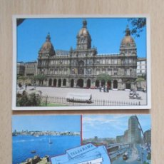 Postales: LOTE DE 3 TARJETAS POSTALES DE LA CORUÑA. Lote 152184966