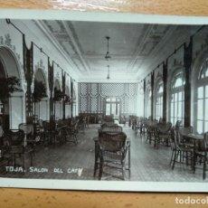 Postales: LA TOJA (PONTEVEDRA).- SALON DEL CAFÉ. Lote 152198666