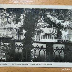Postales: LA CORUÑA.- JARDINES DE SAN CARLOS Y TUMBA DE SIR JOHN MOORE. Lote 152200478