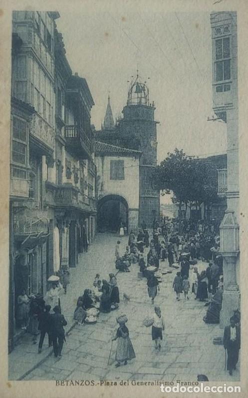 BETANZOS. PLAZA DEL GENERALÍSIMO FRANCO (Postales - España - Galicia Antigua (hasta 1939))