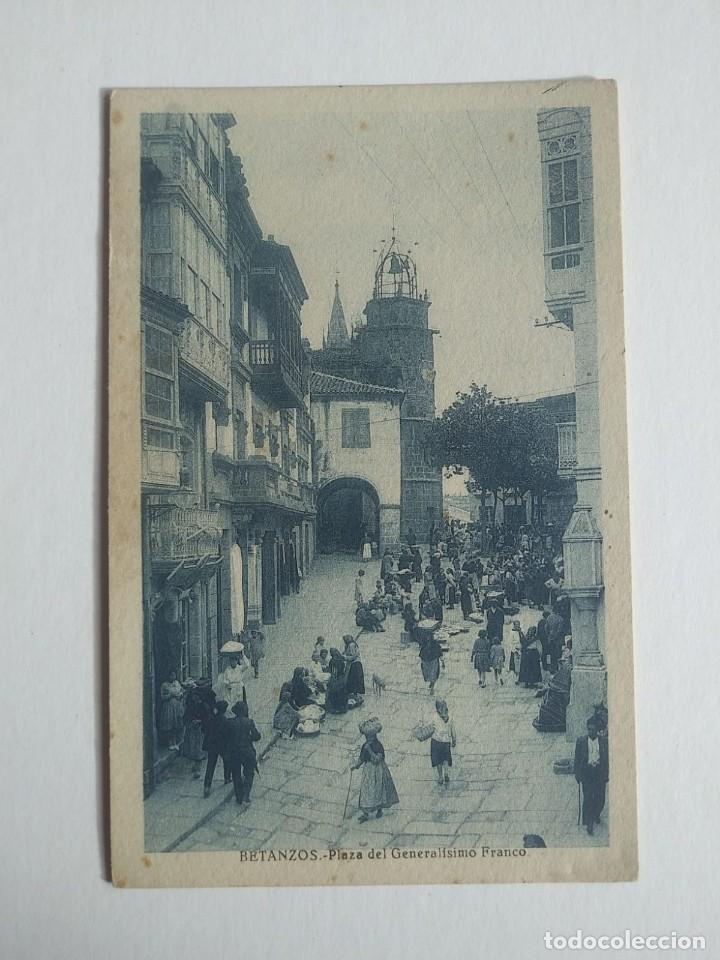 Postales: Betanzos. Plaza del Generalísimo Franco - Foto 2 - 140735458