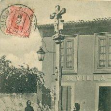 Postales: VIGO UN CRUCERO DE ALDEA. CIRCULADA EN 1906.. Lote 152451874