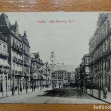 Postales: VIGO -CALLE POLICARPO SANZ ,EDC.LIBRERIA E.B TETILLA. Lote 152456658