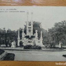 Postais: LA CORUÑA - 9 - MONUMENTO CONCEPCION ARENAL - HAUSER Y MENET. Lote 152457254