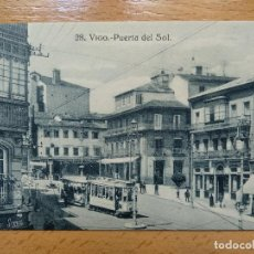 Postales: VIGO - PUERTA DEL SOL - EDICION J. BUCETA 28. TRANVIA.... Lote 152460550