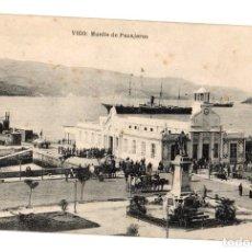 Postales: TARJETA POSTAL VIGO. MUELLE DE PASAJEROS. AÑO 1922. Lote 152754452