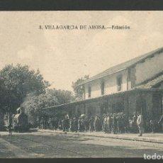 Postales: VILLAGARCIA DE AROSA-ESTACION DEL FERROCARRIL-3-ED·D.P.-POSTAL ANTIGUA-(57.298). Lote 152960270