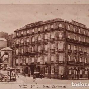 Vigo. Hotel Continental. Postal antigua.