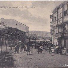 Postales: VIVERO - (LUGO) AVENIDA DE CERVANTES. Lote 153571442
