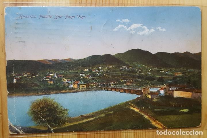 HISTORICO PUENTE DE SAN PAYO VIGO ED. JULIAN BUCETA 1930 (Postales - España - Galicia Moderna (desde 1940))