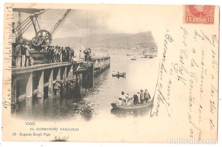 VIGO (PONTEVEDRA) EL SUBMARINO SANJURJO. (Postcards - Spain - Old Galicia (until 1939))