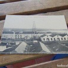 Postales: TARJETA POSTAL FERROL ARSENAL DARSENA Y MACHINA TRIPODE. Lote 153967998