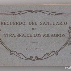 Postales: BLOCK DE 20 POSTALES. RECUERDO DEL SANTUARIO DE NUESTRA SEÑORA DE LOS MILAGROS. ORENSE.. Lote 154547702