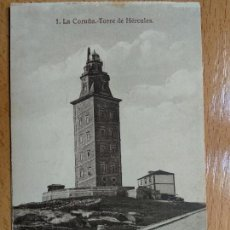 Postais: LA CORUÑA. TORRE DE HÉRCULES. HELIOTIFPIA DE KALLMEYER Y GAUTIER. Nº1.. Lote 154682030