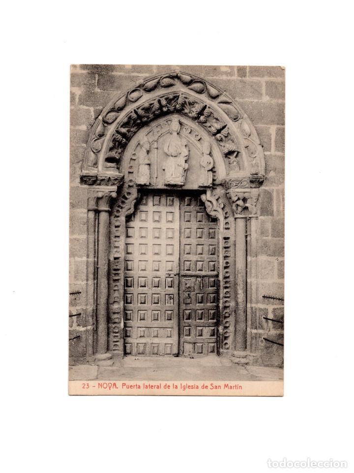 NOVA.- PUERTA LATERAL DE LA IGLESIA DE SAN MARTÍN. (Postales - España - Galicia Antigua (hasta 1939))