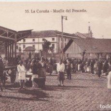 Postales: LA CORUÑA - MERCADO - HELIOTIPIA DE KALLMEYER Y GAUTIER - MADRID. Lote 154890690