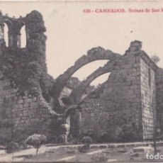 Postales: CAMBADOS (PONTEVEDRA) - RUINAS DE SAN MARTIN. Lote 155533210