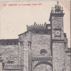 Postales: ORENSE - LA CATEDRAL (SIGLO XII). Lote 156448046