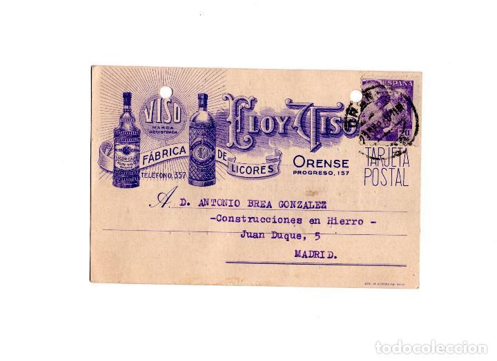 ORENSE.- FÁBRICA DE LICORES. VISO.MARCA REGISTRADA. ELOY TISO. (Postales - España - Galicia Antigua (hasta 1939))
