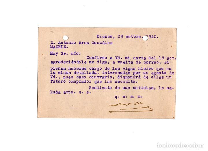 Postales: ORENSE.- FÁBRICA DE LICORES. VISO.MARCA REGISTRADA. ELOY TISO. - Foto 2 - 156763218