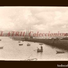 Postales: BAYONA, PONTEVEDRA - CLICHE NEGATIVO EN CELULOIDE - AÑOS 1900-1920 - FOTOTIP. THOMAS, BARCELONA. Lote 156863270
