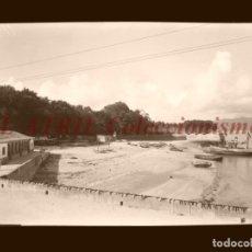Postales: BAYONA, PONTEVEDRA - CLICHE NEGATIVO EN CELULOIDE - AÑOS 1900-1920 - FOTOTIP. THOMAS, BARCELONA. Lote 156863438