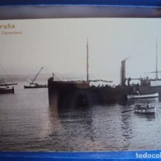 Postales: (PS-59938)POSTAL FOTOGRAFICA DE LA CORUÑA-VAPOR FERROLANO. Lote 156889102