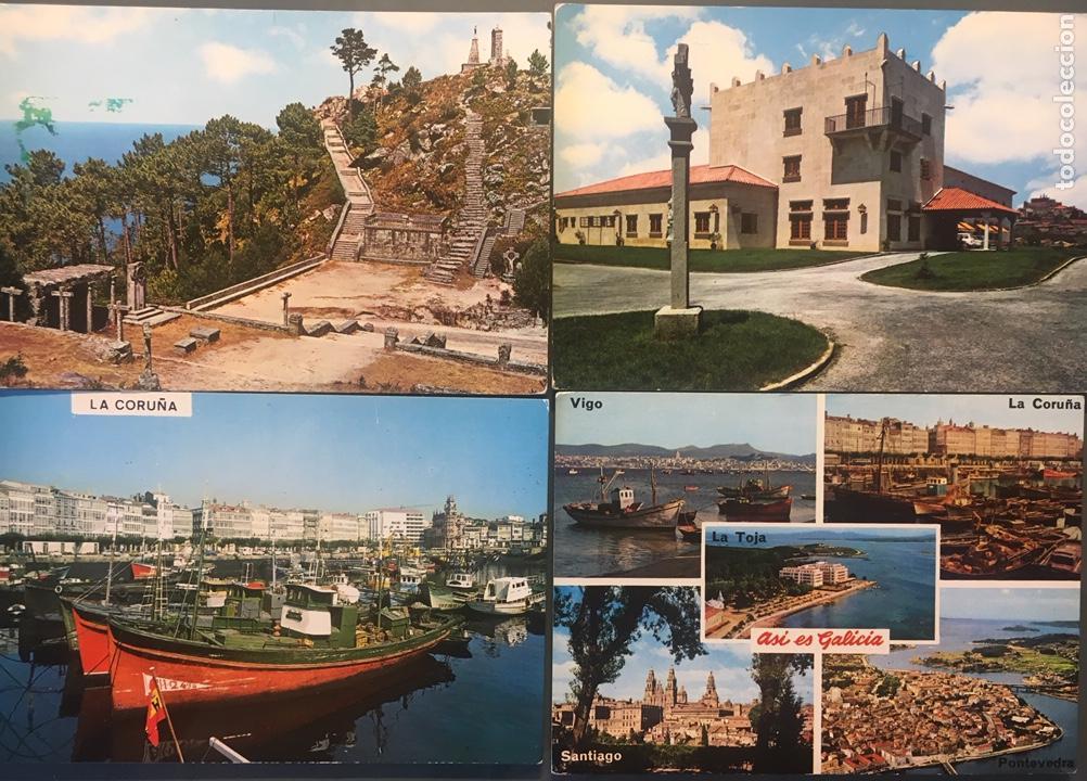 LOTE 4 POSTALES GALICIA (Postales - España - Galicia Moderna (desde 1940))