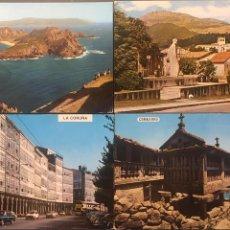 Postales: LOTE 4 POSTALES GALICIA. Lote 156957674