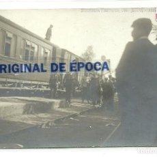 Postales: (PS-60014)POSTAL FOTOGRAFICA DE SARRIA(LUGO)-MANIOBRAS MILITARES 1907.FERROCARRIL. Lote 157356078