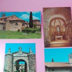 Postales: LOTE 4 POSTALES-MONASTERIO CISTERCIENSE-FERREIRA DE PANTÓN-LUGO-ANTIGUAS-1982-SIN CIRCULAR. Lote 158094186