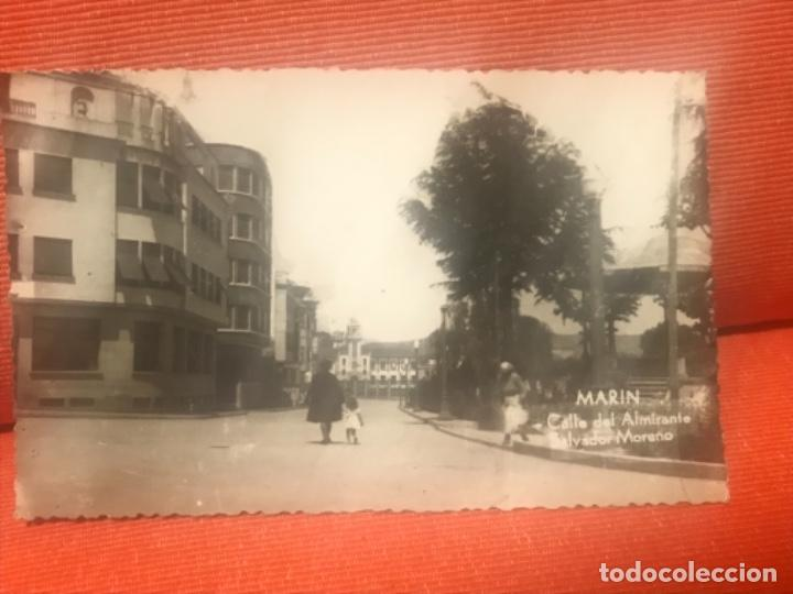 MARIN,CALLE DEL ALMIRANTE SALVADOR MORENO POSTAL PONTEVEDRA GALICIA CIRCULADA (Postales - España - Galicia Antigua (hasta 1939))