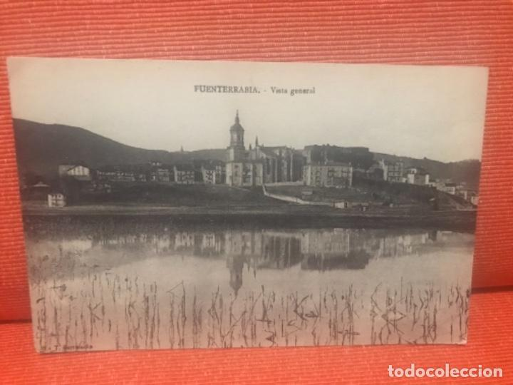 FUENTERRABIA VISTA GENERAL UNIÓN POSTAL UNIVERSAL SIN CIRCULAR (Postales - España - Galicia Antigua (hasta 1939))